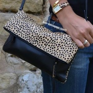 Stella & Dot Leopard Covet Crosby Crossbody/Clutch